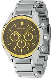 Fossil CH2545 - Reloj para hombres, correa de acero inoxidable color plateado