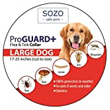 Dog Flea Treatment Collar - Flea Tick Collar ProGuard Plus - Large Dog (safe pet protection from pest bites infestations larvae lice mosquitoes)