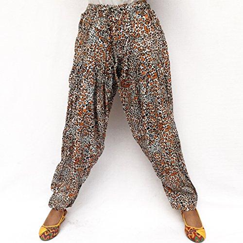 Imprimé Taille Pantalon Ajustable Pyjama Chaîne Léopard Kraft Détendu Élastique Royal Rayonne wEnTXqgxXf