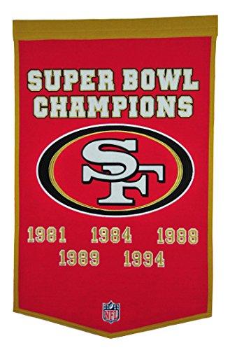 Winning Streak NFL San Francisco 49ers Dynasty Banner from Winning Streak