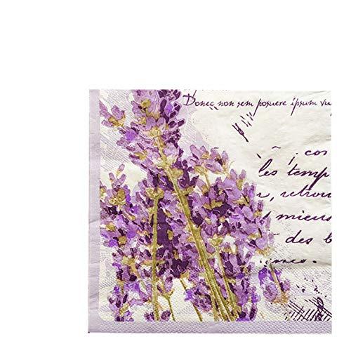 60Pcs 13x13Inch Purple Lavender Disposable Tissue Napkins Pack-Paper Napkins Decorative-Paper Napkins Decorative 100 count-Paper Napkins for Tea Party-Paper Napkins for Wedding Reception