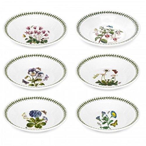 Portmeirion Botanic Garden Set of 6 Soup Plate/Bowls (Assorted Motifs)