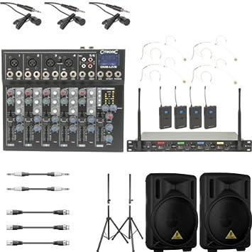 Headset UHF-Funkmikrofone mit Mixer, Lautsprecher: Amazon.de ...