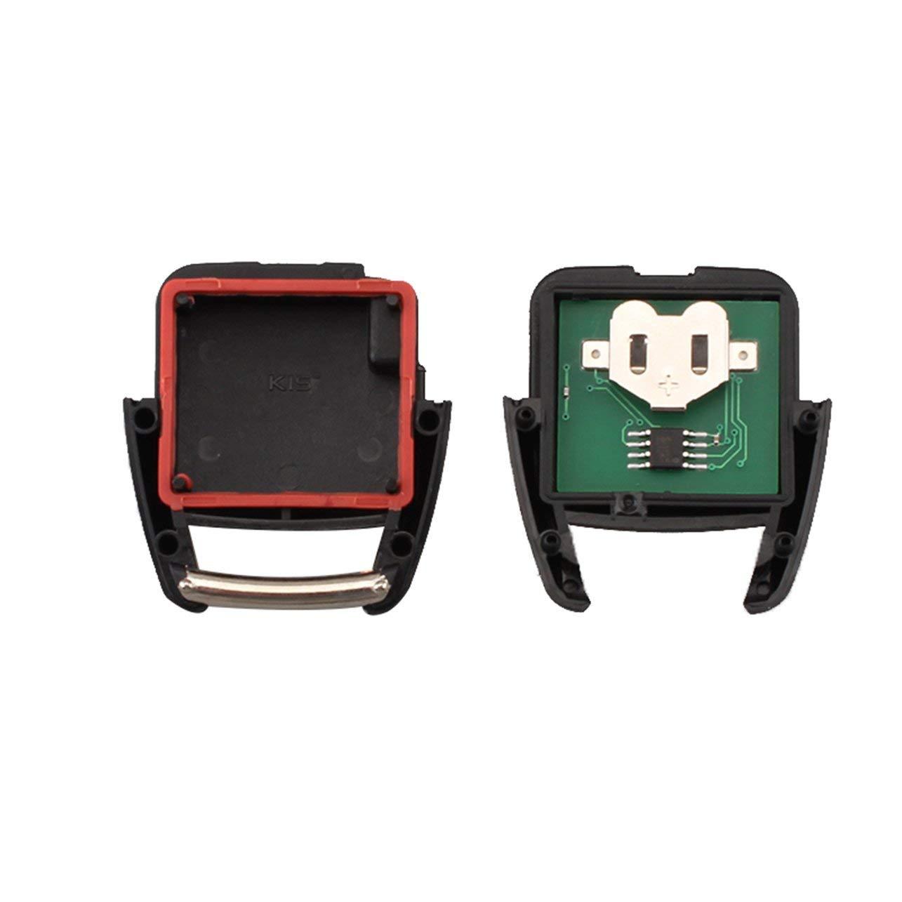 WOSOSYEYO 2 Bot/ón de Control Remoto Clave Fob para Vauxhall Vectra Opel Astra Zafira 433.92 n Chips