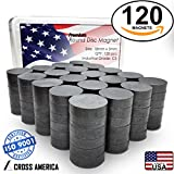 Ceramic Round Disc Flat Ferrite Crafts Magnets for Refrigerator Buttons Hanging Tools DIY Hobbies School Science Projects Teachers Home Office Pictures Whiteboard Bottle Caps Magnets 120 Bulk Pack C5
