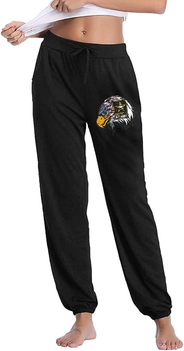 Monwe US Army with American Flag Women Autumn Winter Long Trousers Daily Track Trousers