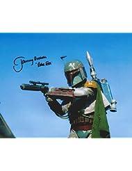Star Wars Return of the Jedi Signed Autographed Jeremy Bulloch as Boba Fett 8x10 Photo