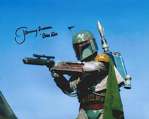 Star Wars Return of the Jedi Signed Autographed Jeremy Bulloch as Boba Fett 8x10 Photo
