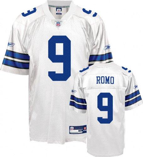 buy popular c0eb6 86c2e Amazon.com : Tony Romo Jersey: Reebok White Replica #9 ...