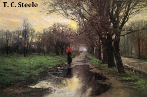 77 Color Paintings of T. C. Steele (Theodore Clement Steele) - American Impressionist Painter (September 11, 1847 - July 24, 1926)