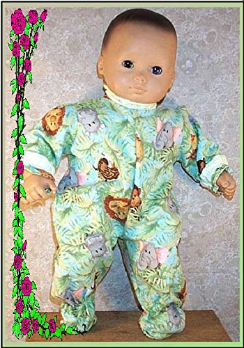 Doll Clothes Baby HandMade Fit American Girl 15 inch Pjs Pajamas Animals