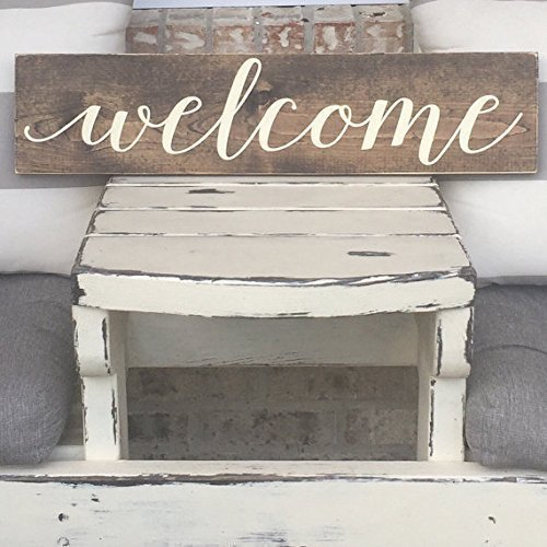 - Rustic - Farm House Sign - Wall Decor - Welcome ()
