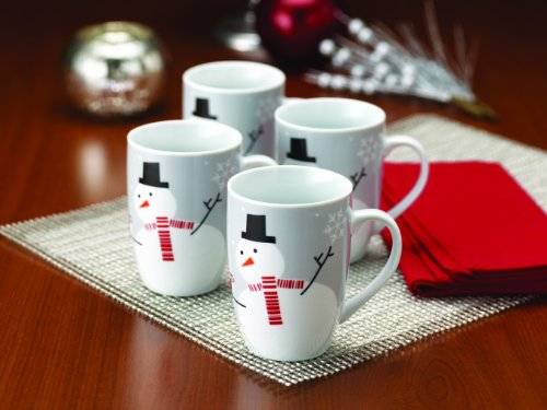 - Rachael Ray Dinnerware Little Hoot and the Snowman 4-Piece Mug Set