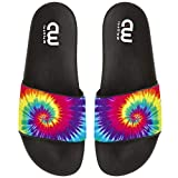 Tie Dye Colorful Art Summer Slides Slippers For Boy Girl Indoor Outdoor Beach Sandal Shoes size 2