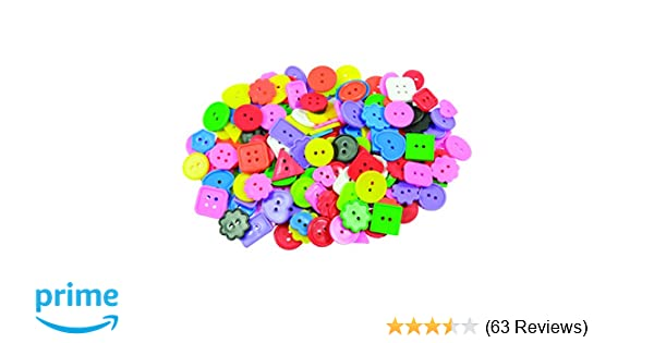 1-Pound ROYLCO R2132 Bright Buttons Shapes and Colors Assorted Sizes