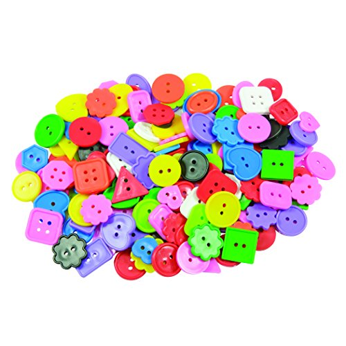 ROYLCO R2131 Bright Buttons, Assorted Sizes, Shapes and Color, ()