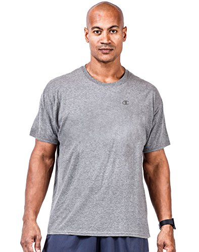 - Champion Big Tall Men`s Short Sleeve Jersey Tee, CH305, 3XLT, Oxford Heather