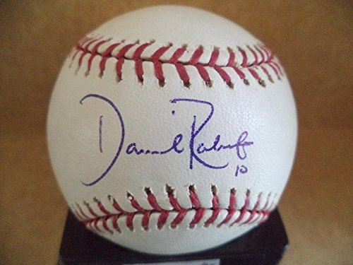 (DAVE ROBERTS RED SOX SIGNED AUTOGRAPHED ON 2004 WORLD SERIES BASEBALL W/COA A)