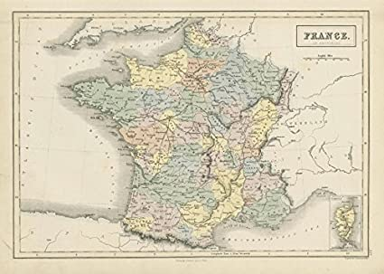 Old Map Of France.Amazon Com France In Provinces Showing Railways John Bartholomew