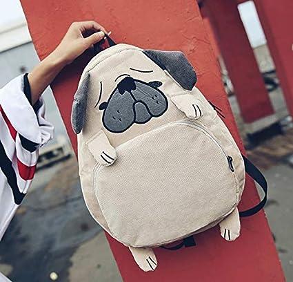 Amazon com: Women Backpack Schoolbag Canvas Cute Dog Fox Ear