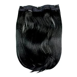 "Tressecret 18"" Clip In Futura Hair Extension, Jet Black by Tressecret"