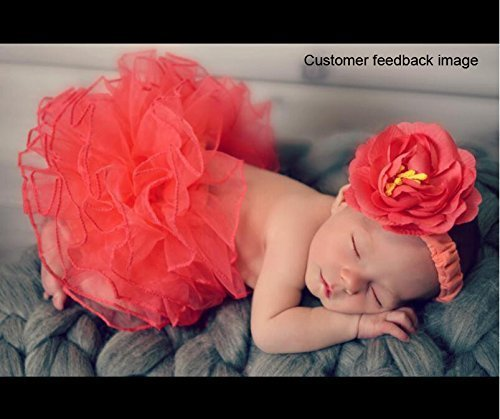 Newborn Baby Photography Prop, CiaraQ's Girl Tutu Skirt with Headband Outfits, Baby Photo Prop, Crochet Baby Clothes by Ciara2016u (Image #1)