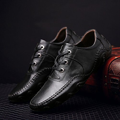 Sintético Feidaeu De Zapatos Hombre Negro q61xOwR6E