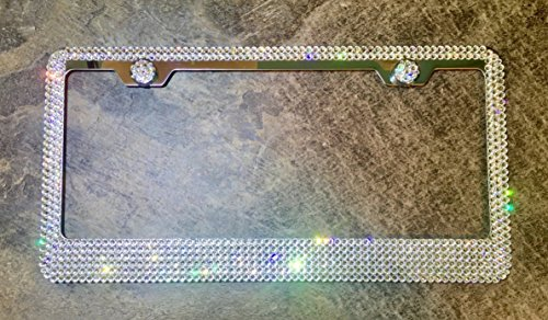 6 Row License Plate Frame made with Swarovski Crystals - Car Jewelry ()