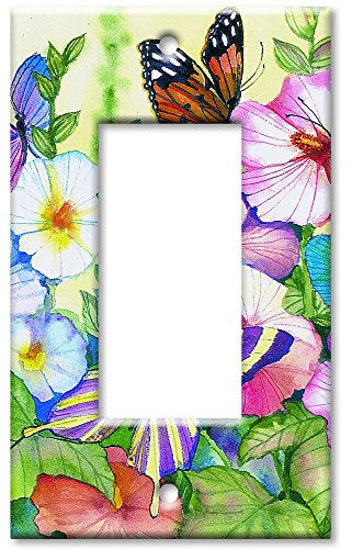 Art Plates - Garden Butterflies Switch Plate - Single Rocker
