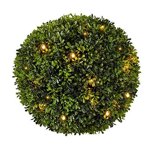BrylaneHome Pre-Lit Topiary Ball