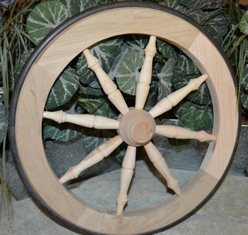 Collectible 14 1/2 Maple Tea Cart Replacement Wagon Wheel. 14 1/2 Amish Country Collectible Handmade Maple Tea Cart Wheel with Rubber Tire Rim and E…