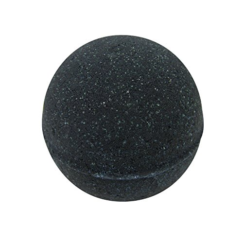 Black Bath Bomb for Men By The Bath Bomb Co. - Large Bath Bomb 7.5oz - Anti-Aging - Epsom Salts - Coconut Oil - Kaolin Clay - Skin Moisturizers - Aromatherapy Bath - Add to Bubble Bath (Man Bomb)