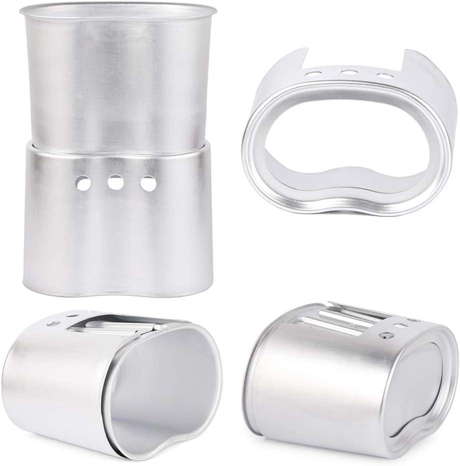 Camping set de aluminio cantimplora y vaso con plato y cubertería de plata campingeschirr