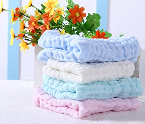 Pack Muslin Cotton Square Towels