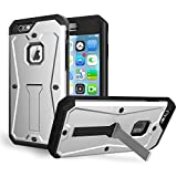iPhone 7 Plus Case, LU2000 Waterproof Shockproof Carbon Fiber Tempered Glass Hard Plastic Cover Case Strong Protection Cover for Apple iPhone 7Plus(5.5 inch) - Silver