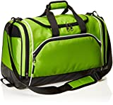 AmazonBasics Sports Duffel - Medium, Hyper Green