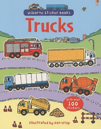 Trucks (Usborne Sticker Books)