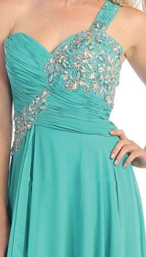 May Queen Mq1061 Formal Dance Flowy Dress 10 Aqua