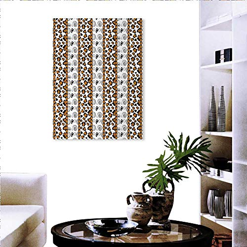Zambia Print Paintings Home Wall Office Decor Cheetah Leopard Skin Pattern Wildlife Featured Spirals Illustration Art-Canvas Prints 20