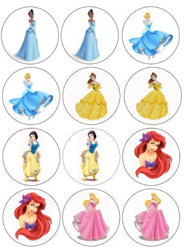 Single Source Party Supply - Disney Princess Cupcakes Edible Icing Image (Disney Princess Icing)