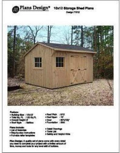 10 X 12 Saltbox Style Storage Shed Project Plans Design 71012