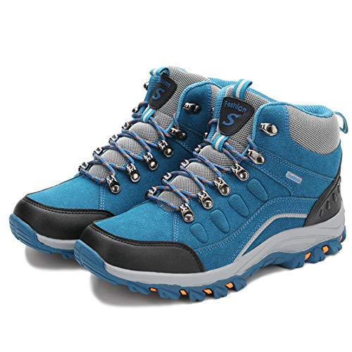 Exclusive Shoebox Womens Mens Snow Boots Fur Winter Hiking Shoes Outdoor High Top Sneakers Royal Blue