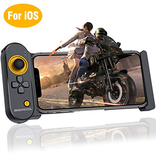Mobile Controller for PUBG, BEBONCOOL PUBG Mobile Game Controller for iPhone 5.5-7.9 Inch iOS iPad, Wireless Fortnite Mobile Controller Remote PUBG Gamepad for Bluetooth iOS FPS Games