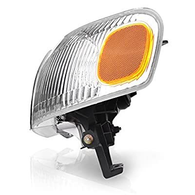 AUTOSAVER88 Headlight Assembly Compatible with 1998-2000 Toyota Corolla +Front Signal Lights (Driver and Passenger Side): Automotive