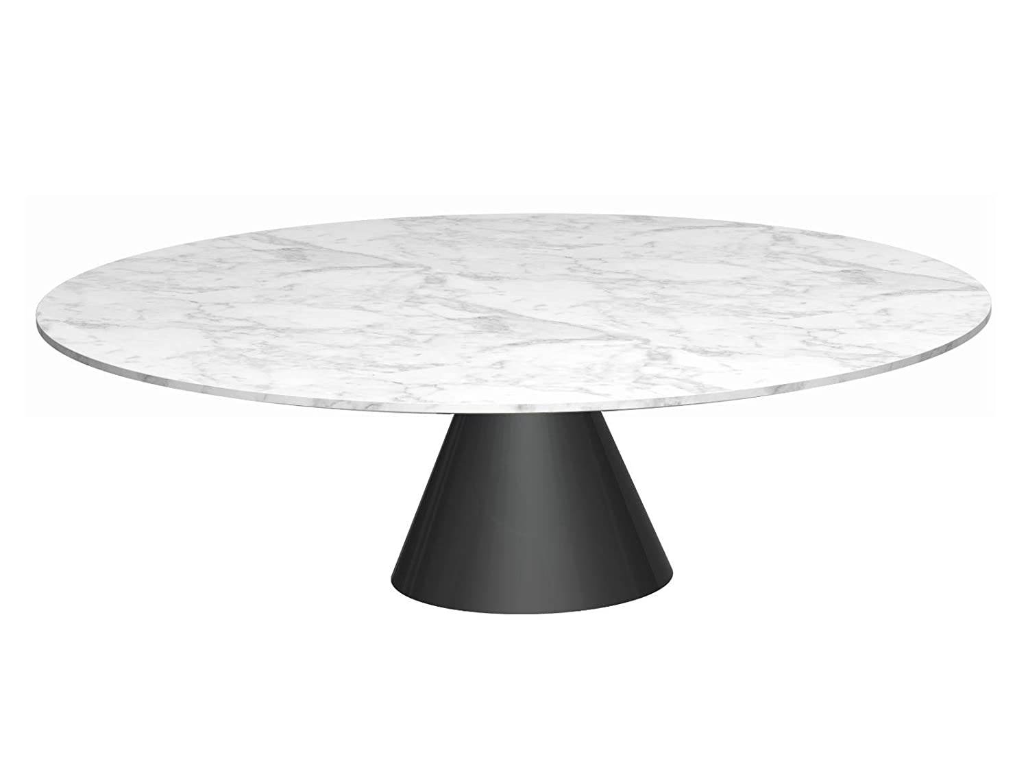 Gillmorespace Large Circular Coffee Table White Marble Top