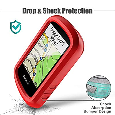 TUSITA Case for Garmin Edge 830 - Silicone Protective Cover - Cycling GPS Computer Accessories (Red): Sports & Outdoors