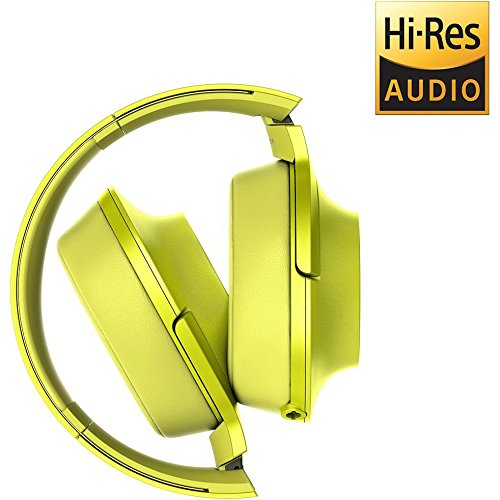 Sony h.Ear on Premium Hi-Res On-Ear Stereo Headphones (Lime Yellow) Includes Bonus FiiO Portable Headphone Amplifier and More