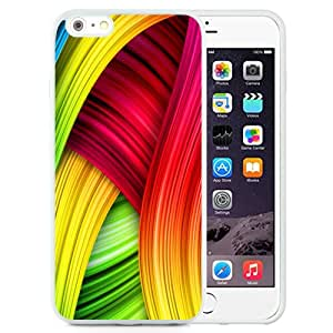 Fashion Custom Designed Cover Case For iPhone 6 Plus 5.5 Inch Colorful Abstract White Phone Case