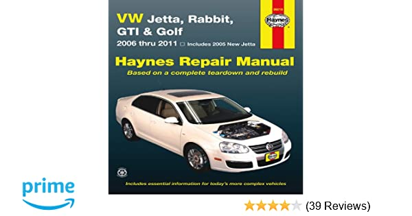 vw jetta rabbit gi golf automotive repair manual 2006 2011 rh amazon com owners manual jetta 2012 owners manual jetta 2012