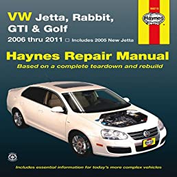 vw jetta rabbit gi golf automotive repair manual 2006 2011 rh amazon com Lawn Boy 10323 Manual Haynes Manual for Quads